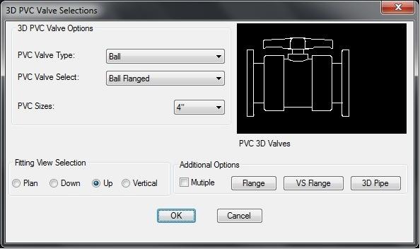 3D PVC Valves Dialog